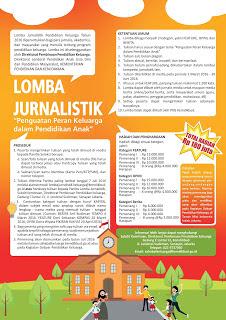 Lomba Jurnalistik (Feature, Opini, Berita) Hadiah Puluhan Juta - Kemendikbud