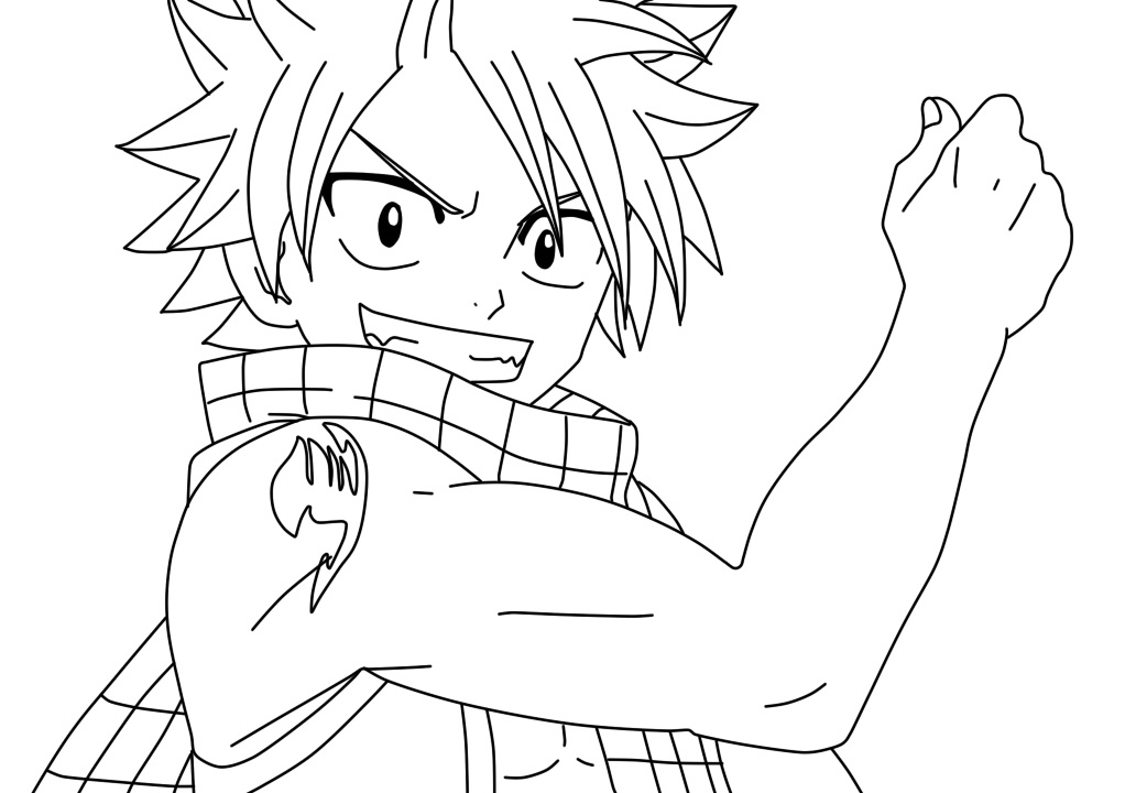 Click The Natsu Dragon Slayer Fairy Tail Coloring Pages
