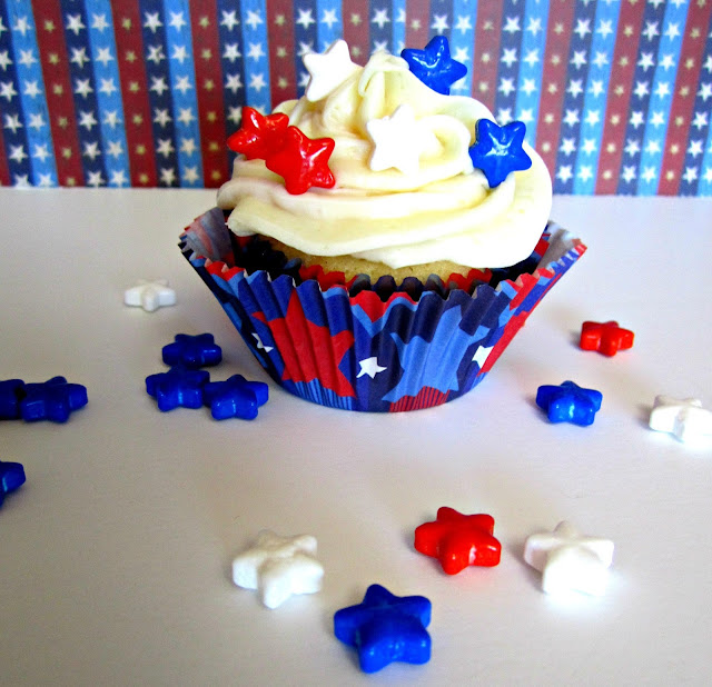 Patriotic cupcake toppers, Fizzy Party, cupcakes