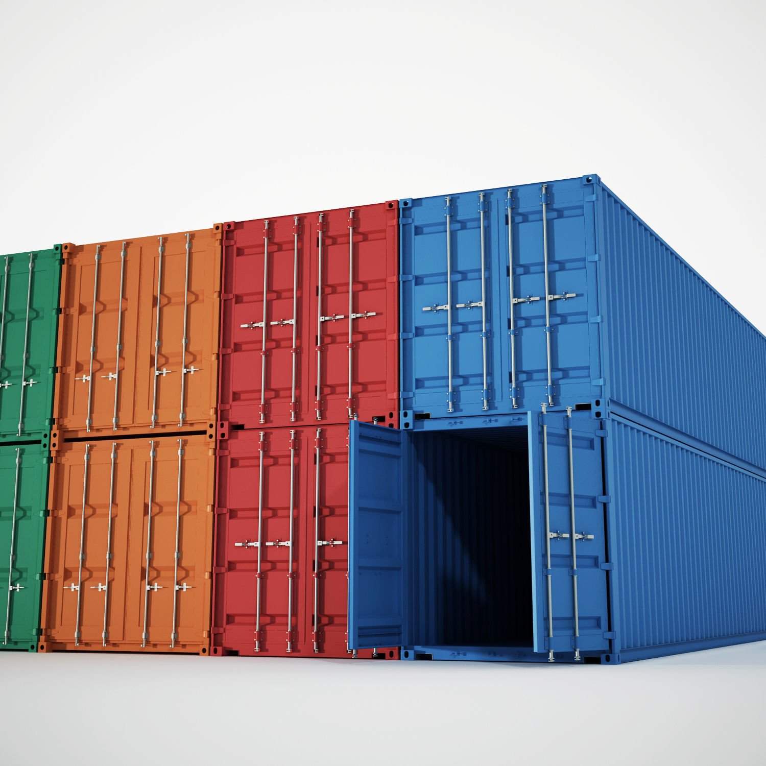 Container 20ft-40ft    Download free 3D models #5040