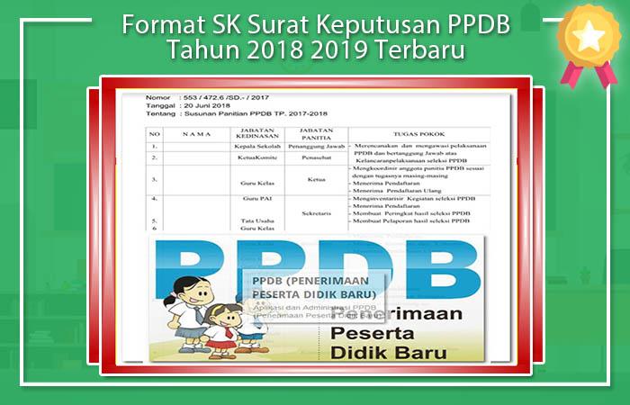 Format SK Surat Keputusan PPDB Tahun 2018 2019 Terbaru