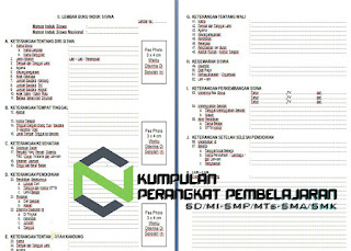 Contoh Format Buku Induk Siswa TK SD MI SMP MTs SMA SMK Terbaru