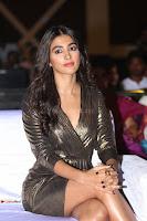 Pooja Hegde looks glamarous in deep neck sleevless short tight golden gown at Duvvada Jagannadham thank you meet function 107.JPG