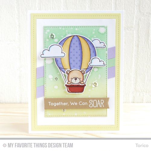 Handmade card from Torico featuring products from My Favorite Things #mftstamps
