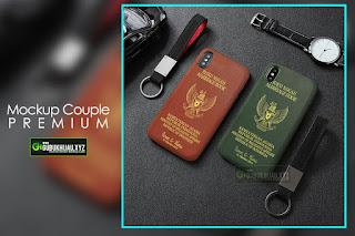 Mockup Custom Case Couple Premium