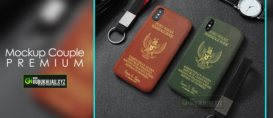Mockup Custom Case Couple Premium