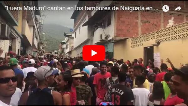 """Tambores de Naiguatá cantan """"Fuera Maduro"""""""