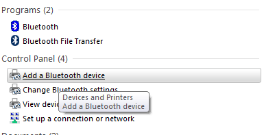Add Bluetooth Device Windows