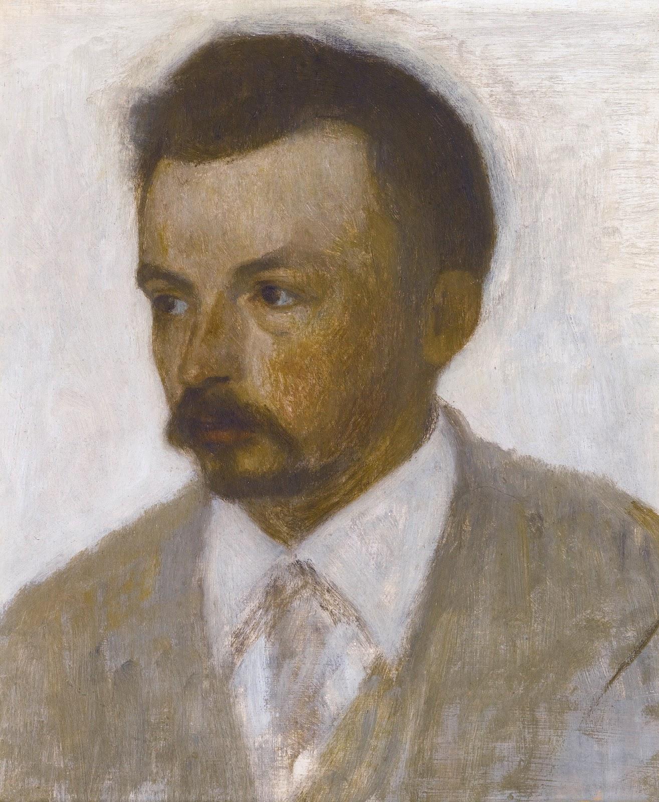 ヴィルヘルム・ハンマースホイの自画像