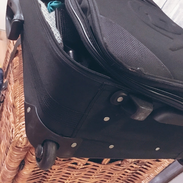 koffer, GrinseStern, klein Grinsestern, reise, skilager
