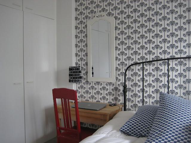 makuuhuone, remontti, tapetti, Eco Wallpaper, Happy