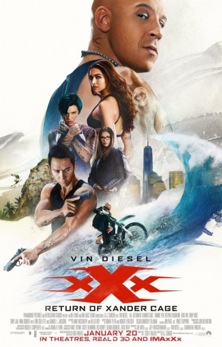 XXX: RETURN OF XANDER CAGE (2017) movie review by Glen Tripollo