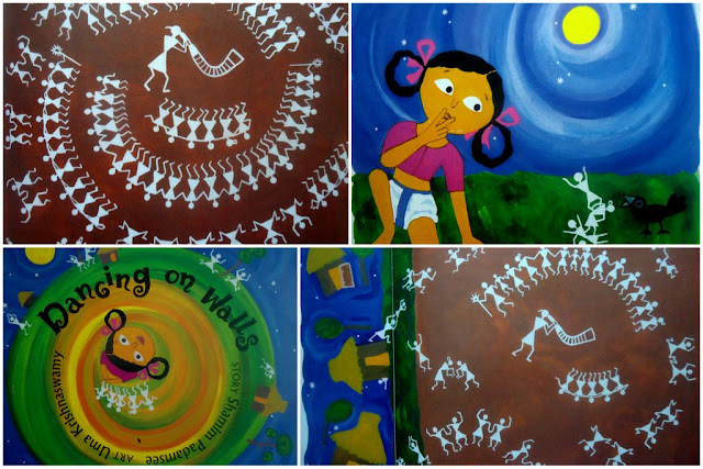 Teaching Warli painting - Step by step images  Warli Art form is the easist for little kids to start learning about India's Folk art . Every kid can easily relate to the simple geometrical figures that a Warli drawing is comprised of. It's also a great way to teach them about common shapes - lines, dots, triangles & circles.