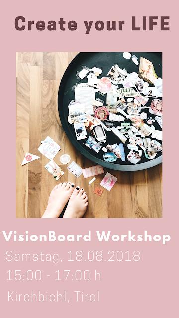 Visionboard Workshop, GrinseSternShine, GrinseStern, Visionboard, lebe deine Träume