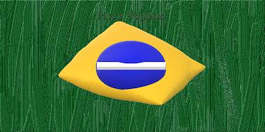 Bandeira do Brasil em cores vivas real