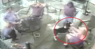 Σοκαριστικό βίντεο: Σκυλί αρπάζει από το πρόσωπο γυναίκα μέσα σε εστιατόριο