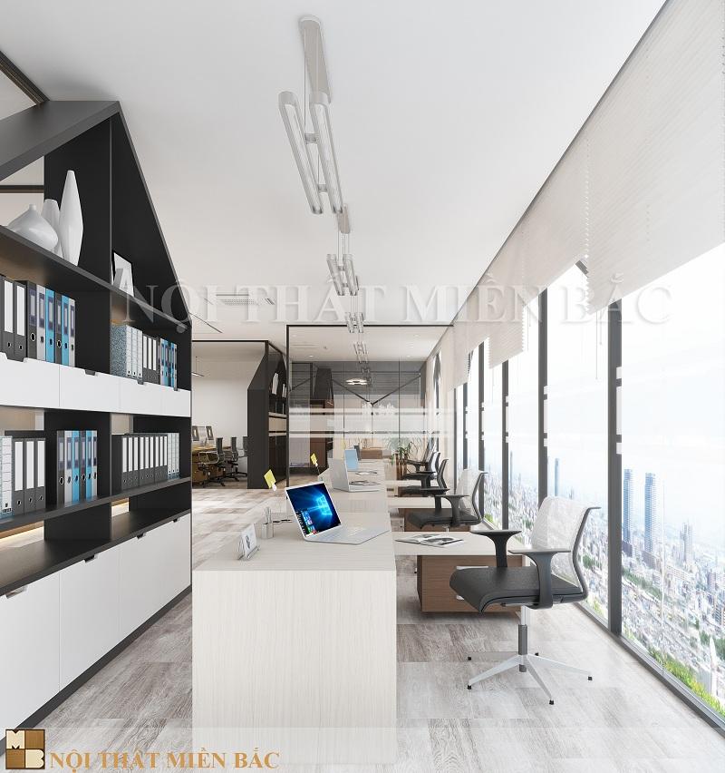 Thiết kế nội thất phòng làm việc mở ấn tượng