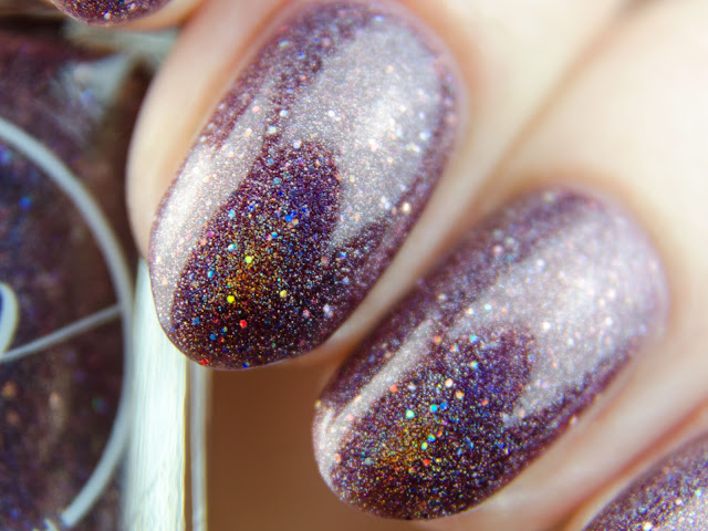 "Painted Polish ""Mulberry Musings"" holo swatch"