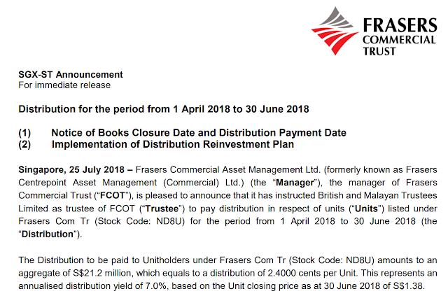 SRS Retirement Fund: 2018