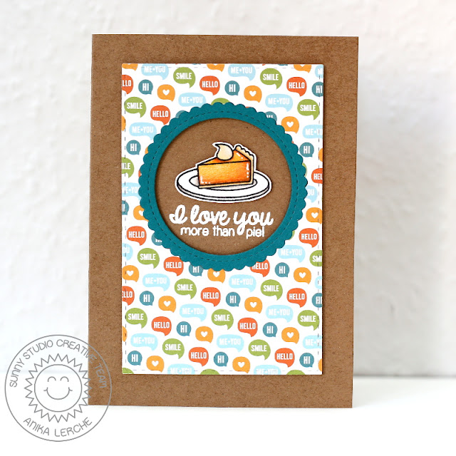Sunny Studio Stamps: Harvest Happiness I Love You More Than Pie Card by Anni Lerche