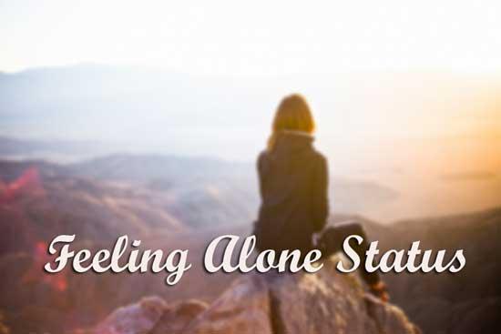 Feeling Alone Status for Whatsapp & FB in English