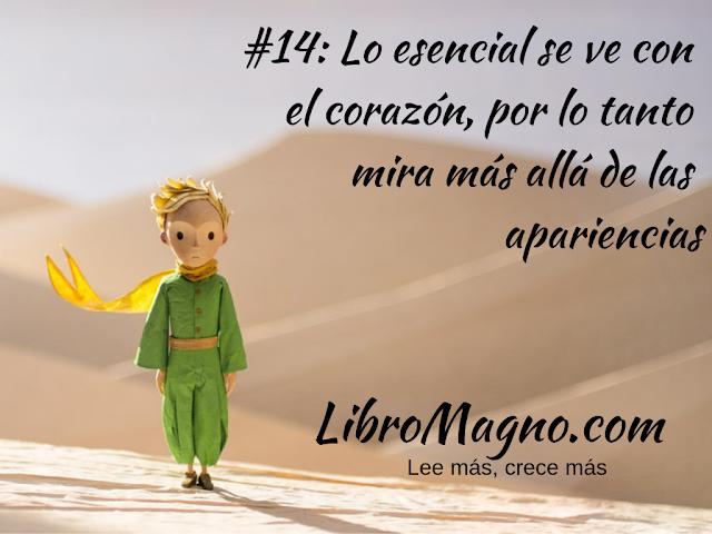 Lección #14: Lo esencial se ve con el corazón, por lo tanto mira más allá de las apariencias