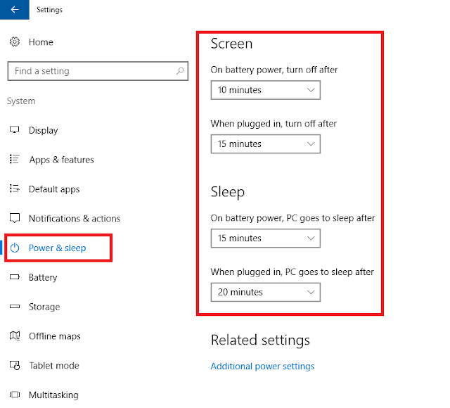 Cara Setting Windows 10 tetap Menyala di Laptop