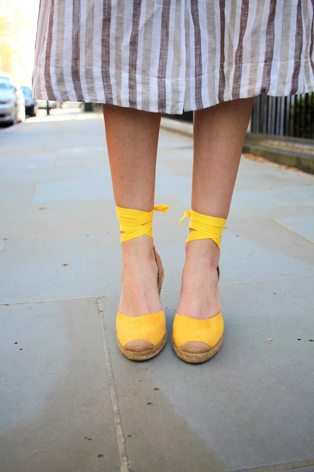 yellow espadrilles mint velvet peexo blog