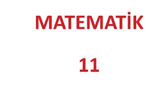11. Sınıf Matematik MEB Yayınları