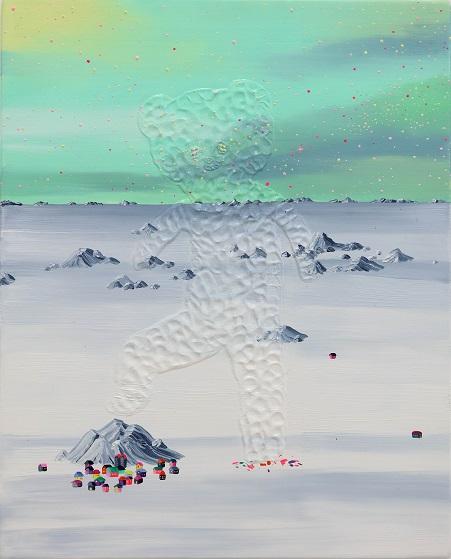"by Eguchi Ayane, ""Avalanche"", 2017, oil on canvas | imagenes surrealismo pop japones, obras de arte, pinturas, cool art pictures"