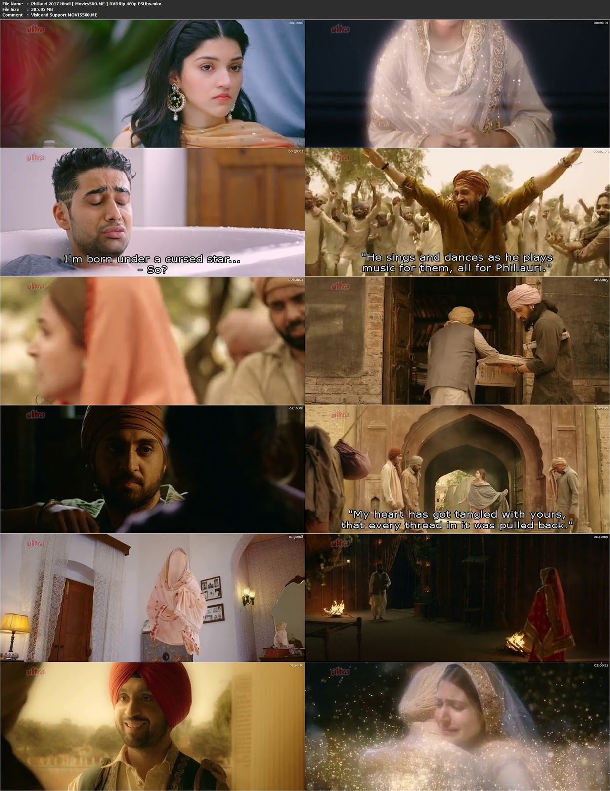 Phillauri 2017 Bollywood 350MB DVDRip 480p Esubs at movies500.site