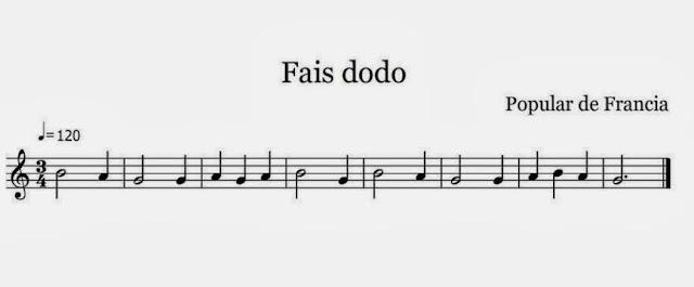 Resultado de imagen de partitura flauta duermete