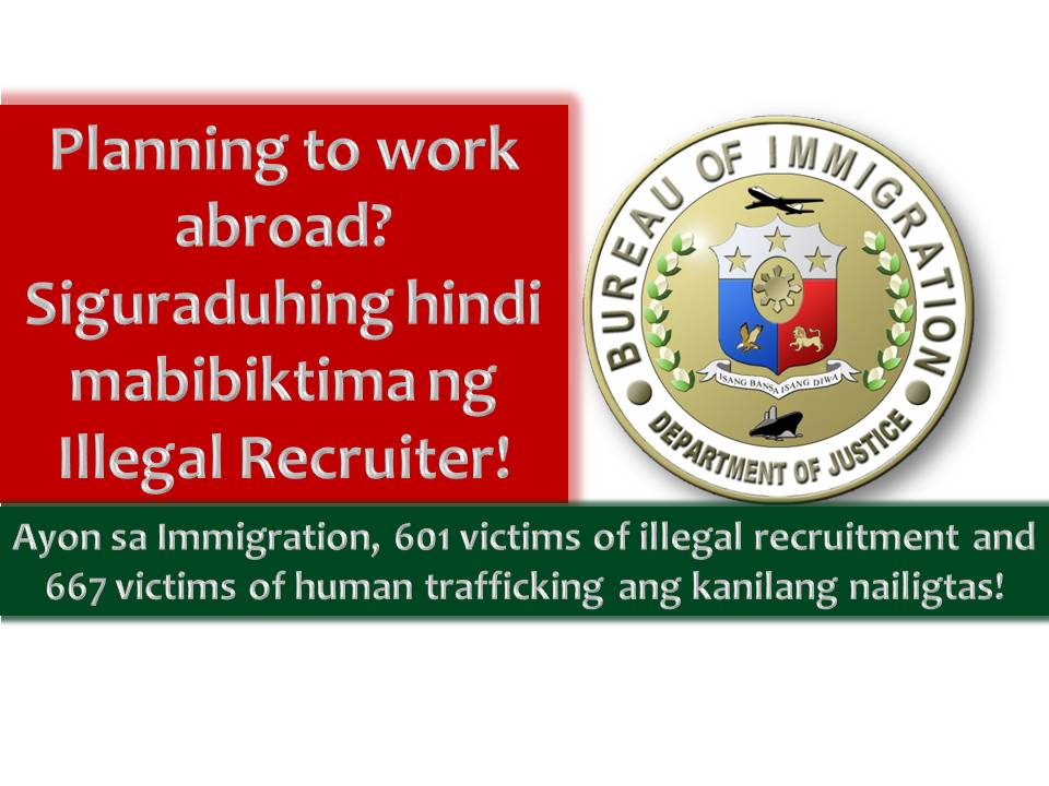 illegal recruitment Manila - minority lawmakers on wednesday warned against the illegal recruitment of filipino workers for kuwait following the government's deployment ban to the gulf state over persistent reports of abuses against philippine migrants.