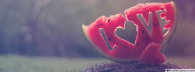 Love Watermelon Facebook Timeline Cover - كفرات وأغلفة فيس بوك 2018