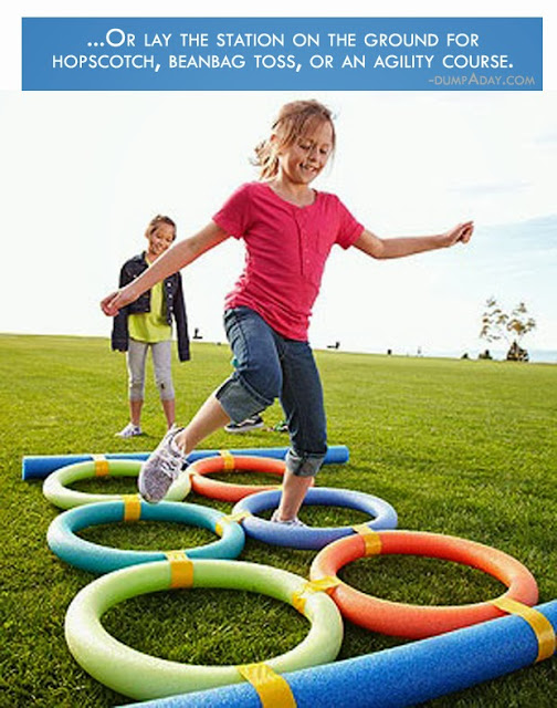 Pool-Noodle-Agility-Course from Dump A Day.