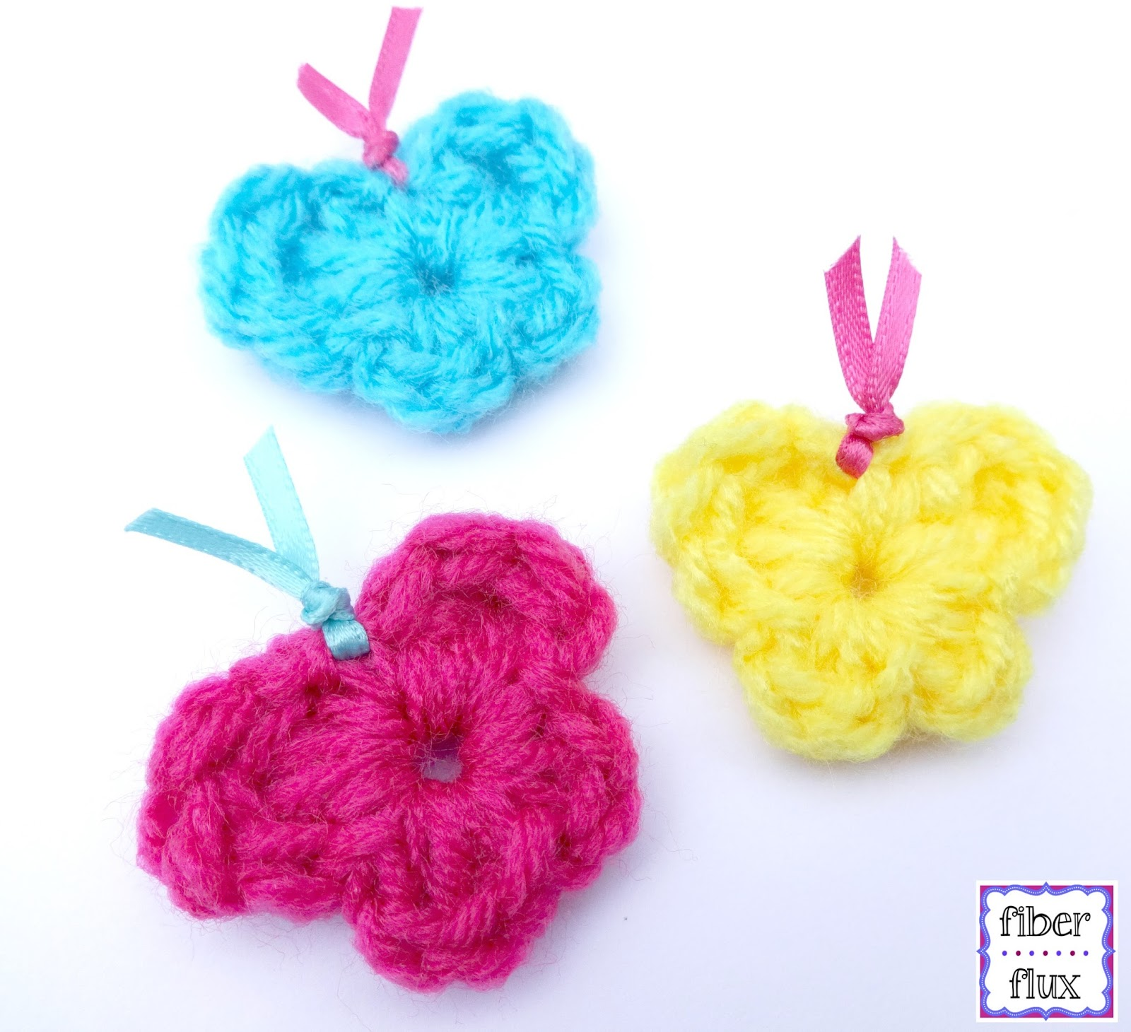 Fiber Flux: Free Crochet Pattern...One Round Butterflies!