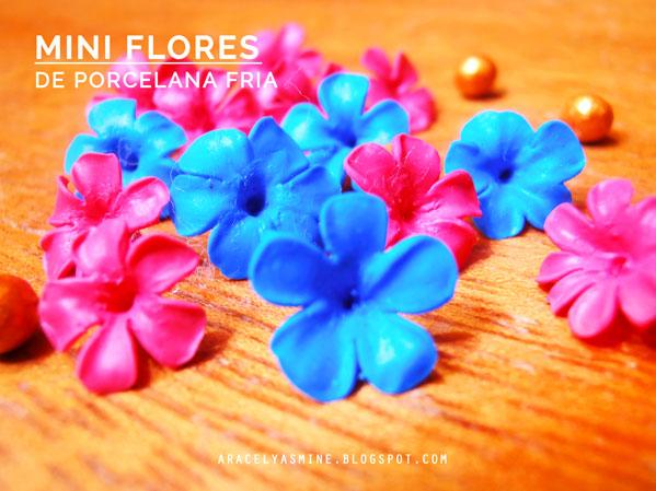 ¿Cómo hacer mini flores con Porcelana fría?
