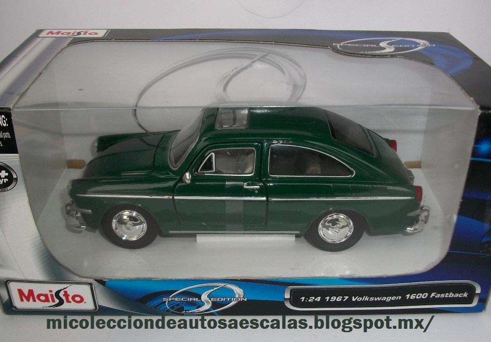 Mi colección de autos a escala : 1967 VW 1600 Fastback 1/24
