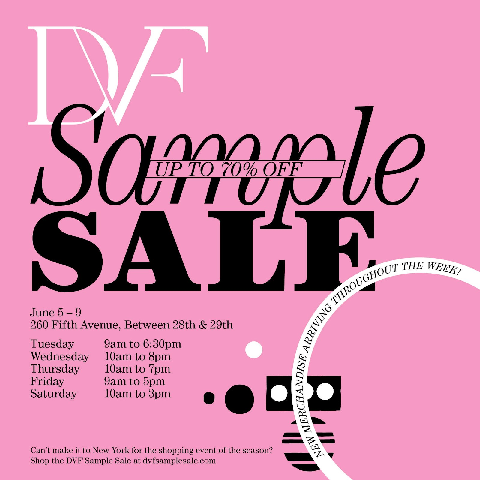 274b6c9c3e38 For the first time, shoppers can access DVF's sample sale when they log  onto http://dvfsamplesale.com.