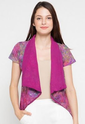 Model Baju Batik Kombinasi Bolero trendy
