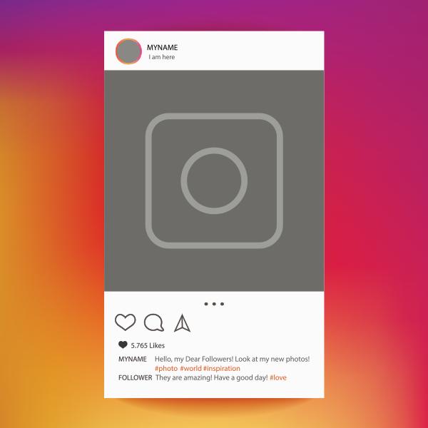 Generic Instagram profile