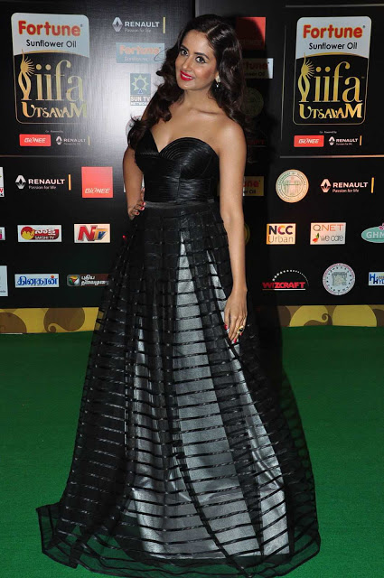Parul Yadav in Designer Black Gown At Iifa Utsavam Awards 2016