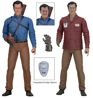 "Ash vs Evil Dead 7"" Action Figures Series 1 by NECA - ""Hero"" Ash & ""Value Stop"" Ash"