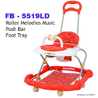 Family FB5519LD Roller Melodies 2 in One Walker and Pusher Baby Walker