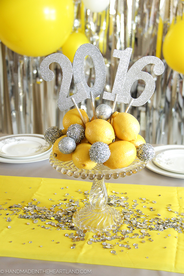 Bright yellow and silver party