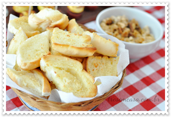 receita pão alho