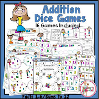 Addition Dice Games Kid Theme