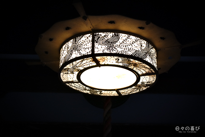 luminaire ouvragé circulaire, kiyomizu-dera, kyoto