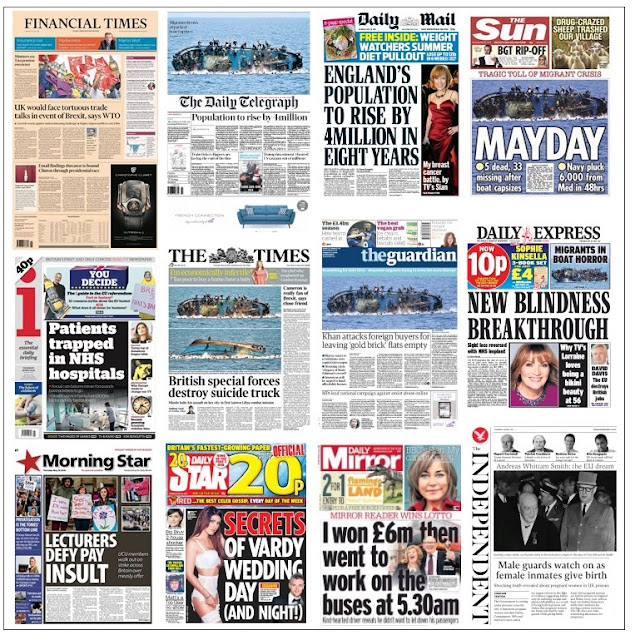 front pages 26-05-16