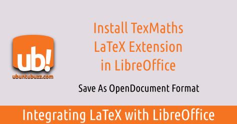 Latex Libreoffice